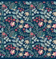 retro wild flower pattern in the many kind of vector image vector image