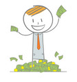 rich business man vector image vector image