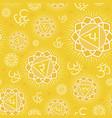 seamless pattern with manipura chakra vector image vector image