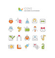 set line icons wedding vector image