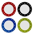 Set of color plates with polka dot pattern vector image