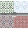 Set of elegant seamless patterns with floral and vector image vector image