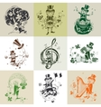 Set of nine for St Patricks Day vector image