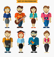 Set of professions Meteorologist musician vector image