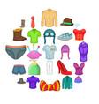 shorts icons set cartoon style vector image vector image