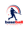 sports baseball logo design vector image vector image