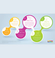 step step template vector image vector image