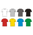 t-shirt template colorful vector image