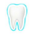 tooth protection aura glow realistic 3d vector image