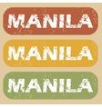 Vintage Manila stamp set vector image
