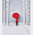 winter season vector image vector image