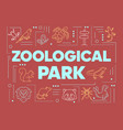 zoological park word concepts banner wild animals vector image