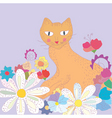 cat greeting vector image
