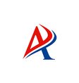 letter A business finance logo vector image