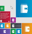 notebook icon sign buttons Modern interface vector image