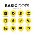 social flat icons set vector image