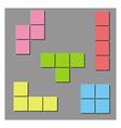 tetris background vector image