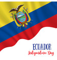 10 august ecuador independence day background vector image vector image