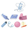 a set of pictures about the gym traininggym and vector image vector image