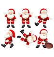 a set of santa poses vector image