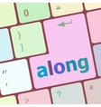 along words concept with key on keyboard vector image vector image