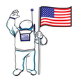astronaut usa resize vector image vector image