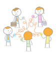 bad networking vector image vector image