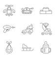 bathin line related icon set vector image