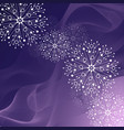 beautiful winter pattern made snowflakes on vector image