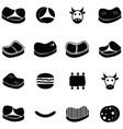 beef icon set vector image vector image