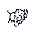 black and white rhino used for logos and other vector image