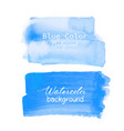 blue brush stroke watercolor on white background vector image vector image