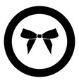 bow black icon in circle vector image vector image