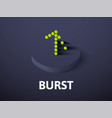 burst isometric icon isolated on color background vector image vector image