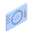 business graph icon isometric style vector image vector image