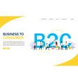 business to consumer website landing page vector image vector image