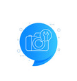 camera repair icon linear design vector image vector image
