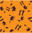 cat rat hand halloween pattern seamless color vector image