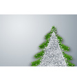 Christmas tree frame background vector image vector image