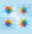 circle infographics template set vector image vector image