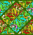 colorful paisley seamless pattern vector image