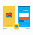 company credit card splash screen and login page vector image vector image