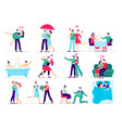 couples in love love couple on date lover makes vector image