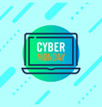 cyber monday sale design concept modern trend vector image