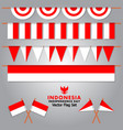 decorative indonesia flag set for independence vector image vector image