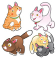 Family of cats vector image vector image