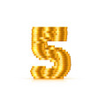 font style made golden coins vector image vector image