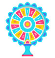 fortune wheel and gambling casino and roulette vector image vector image