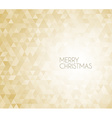 Golden retro Christmas background vector image vector image
