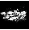 Grunge black tire track background vector image vector image